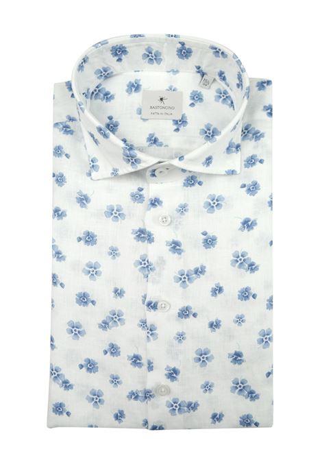 camicia slim in lino lavato BASTONCINO   Camicie   SIMO1857  L 1