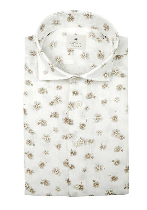 camicia slim in lino lavato BASTONCINO   Camicie   SIMO1857 L 2