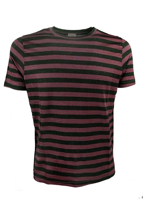 STRIPED LINEN T- SHIRT