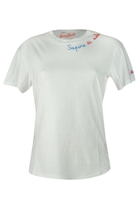 T-Shirt con ricamo sul collo  sapore di sale  MC2  SAINT BARTH | T- shirt | EMILIEESDS01