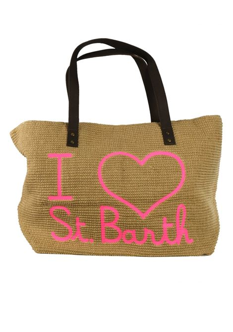 Beach bag in juta  with leather handlers MC2  SAINT BARTH | Bags | HELENE JUTEELSB12