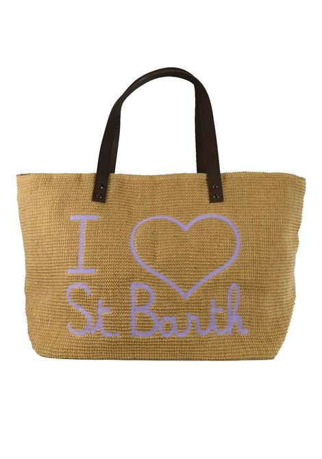 Beach bag in juta  with leather handlers MC2  SAINT BARTH | Bags | HELENE JUTEELSB14