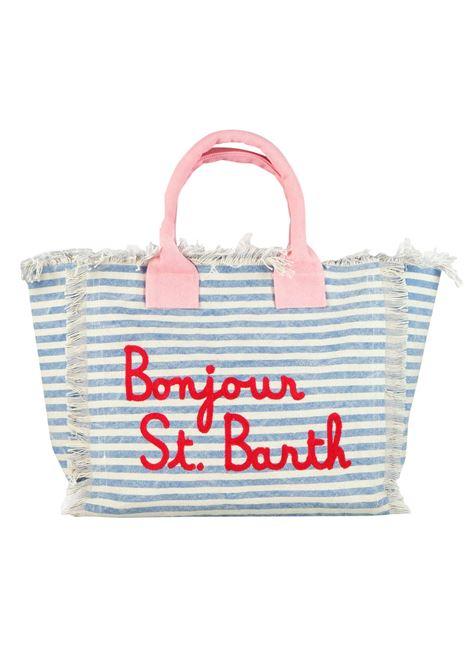 Vanity borsa mare in canvas 36x20x32 MC2  SAINT BARTH | Borse | VANITYBSBN12
