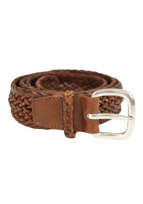 Cintura in pelle intrecciata ORCIANI | Cinture | 7811BRU