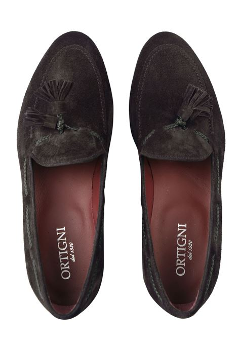 Suede tassels loafer Made in Italy ORTIGNI | Shoes | 9152T 130TDM