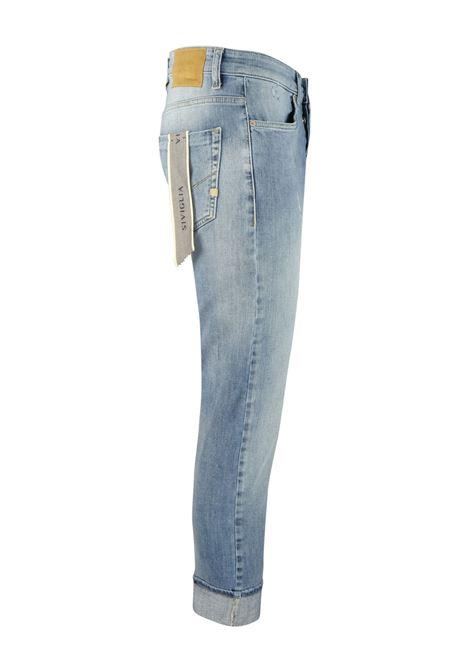 Jeans 10 once lavaggio chiaro con leggeri segni usura SIVIGLIA | Pantaloni | MQ2001 801306003