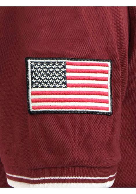 Polo 2 bottoni con profilo e bandiera americana su manica US POLO ASSN. | Polo | 197 60155 50336159