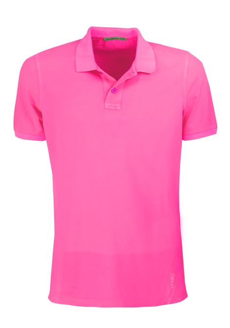 Short sleeves polo, two buttons garment dyed. WORLD END | Polos | 100262