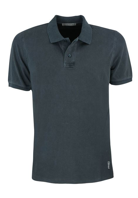 Short sleeves polo, two buttons garment dyed. WORLD END | Polos | 100289