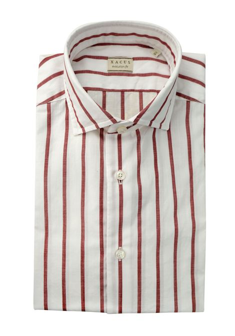 Camicia in lino a righe XACUS | Camicie | 848 81224003