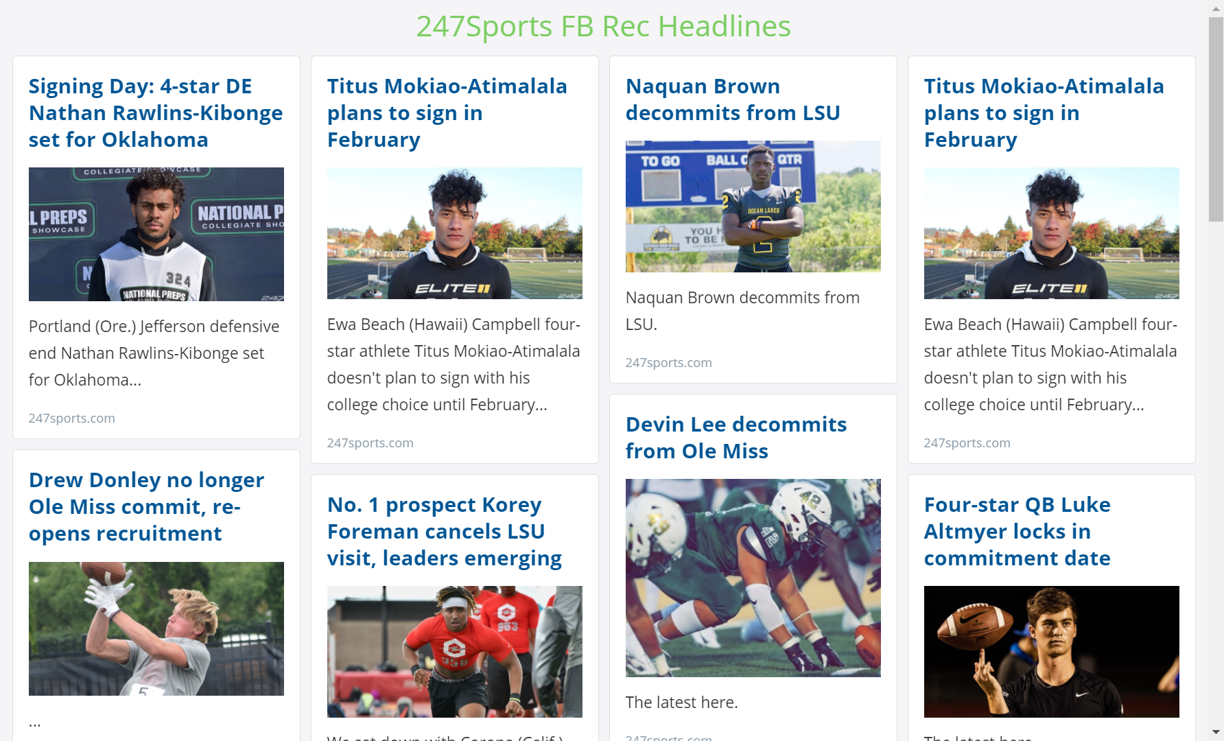 247 Sports RSS feed