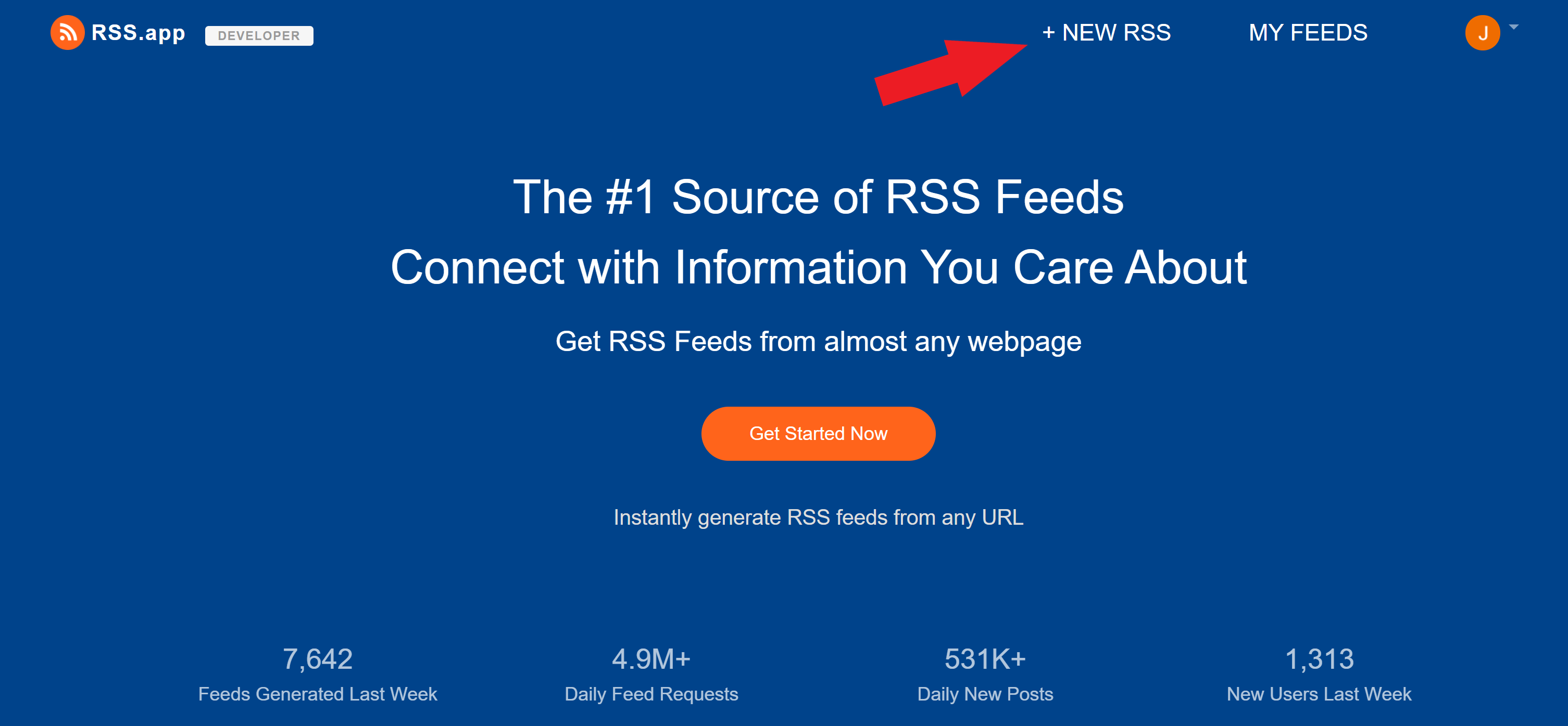 Create New RSS