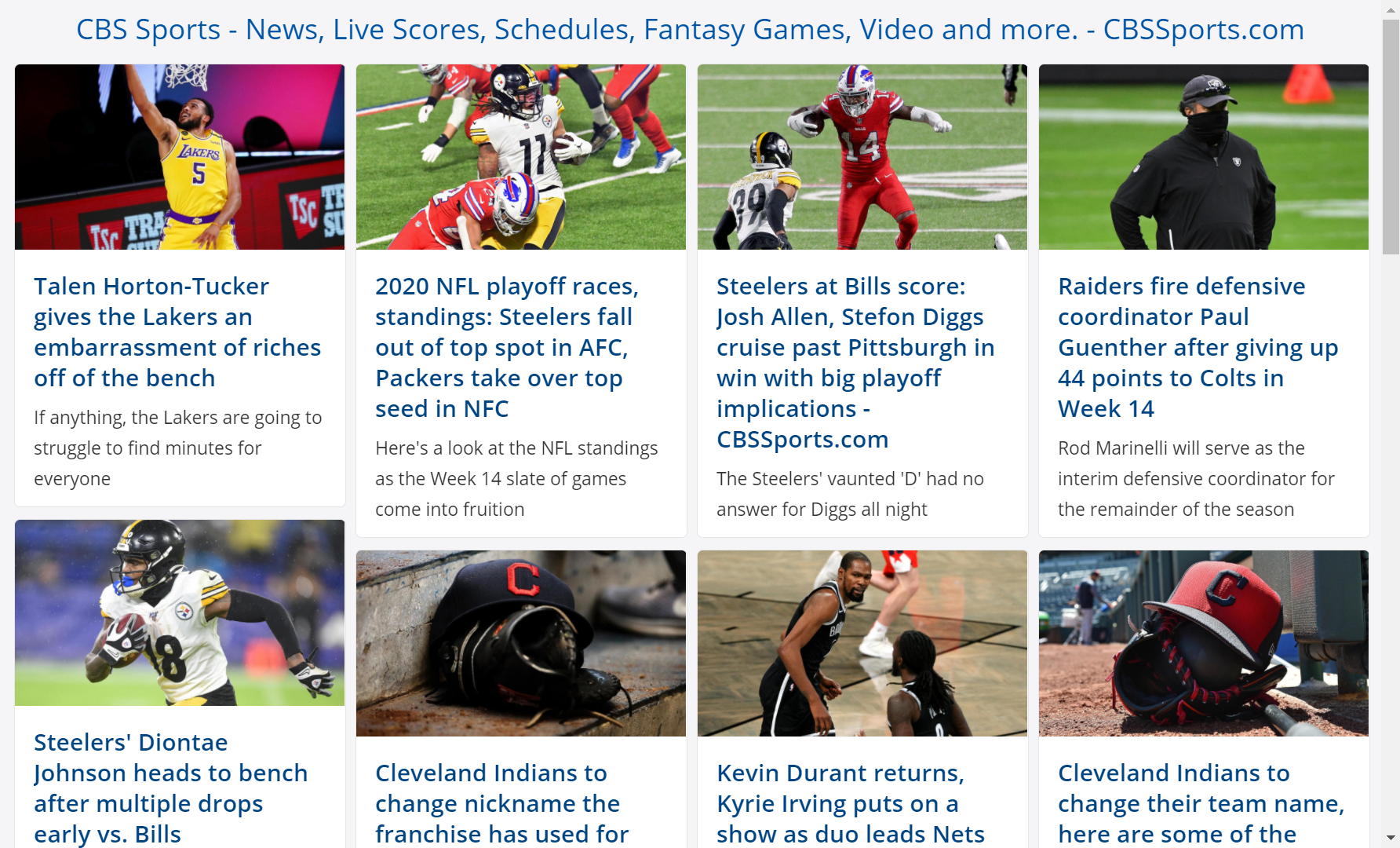 CBS Sports RSS feed