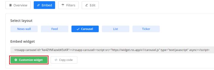 customize rss widget