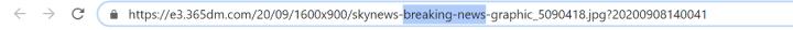 find keywords in image URL