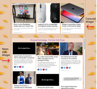 how rss widget appear at wix website