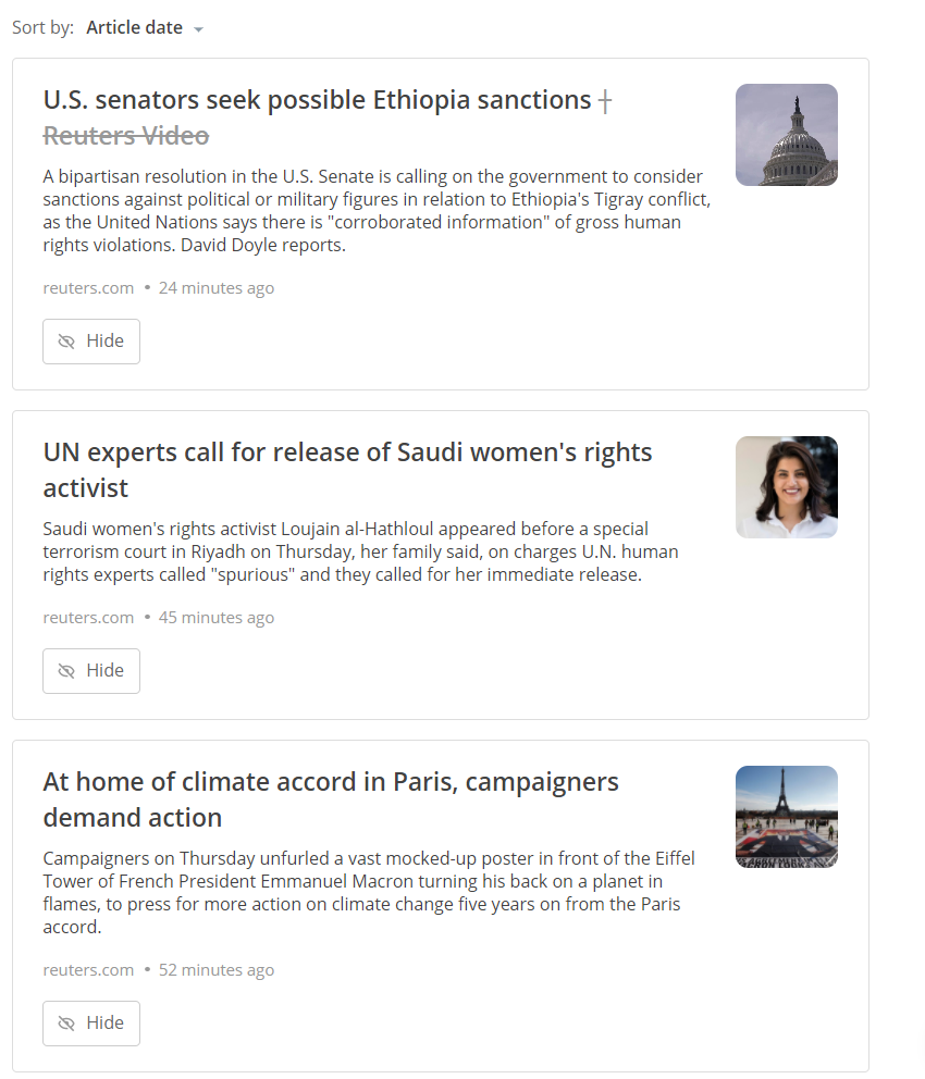 sort posts by article date