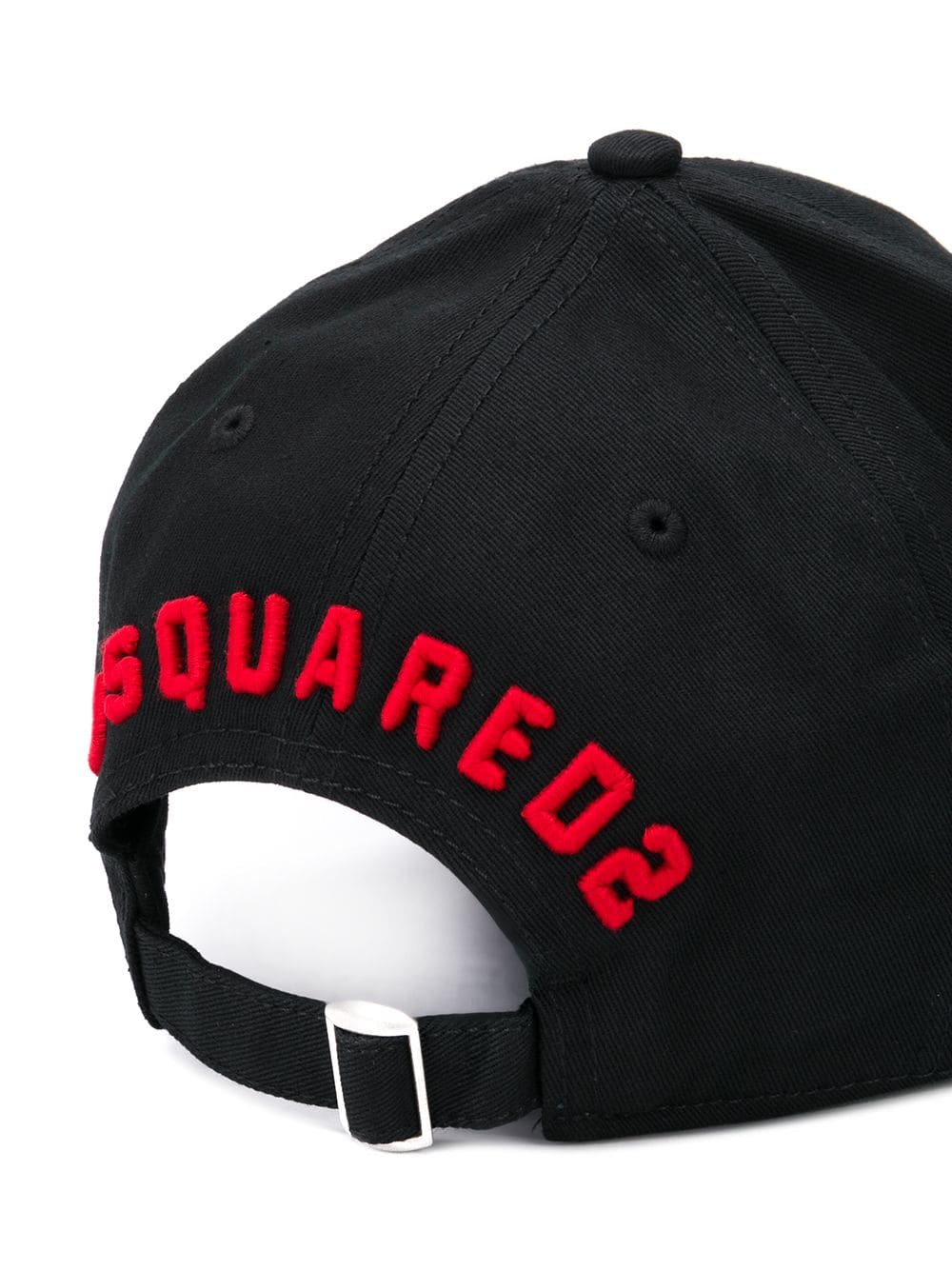 7d7fefbf Black Baseball Cap With Red Icon Logo - DSQUARED2 - Russocapri
