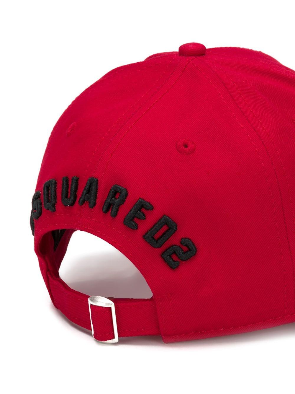 c92b3d4d Red Baseball Cap With Black Icon Logo - DSQUARED2 - Russocapri