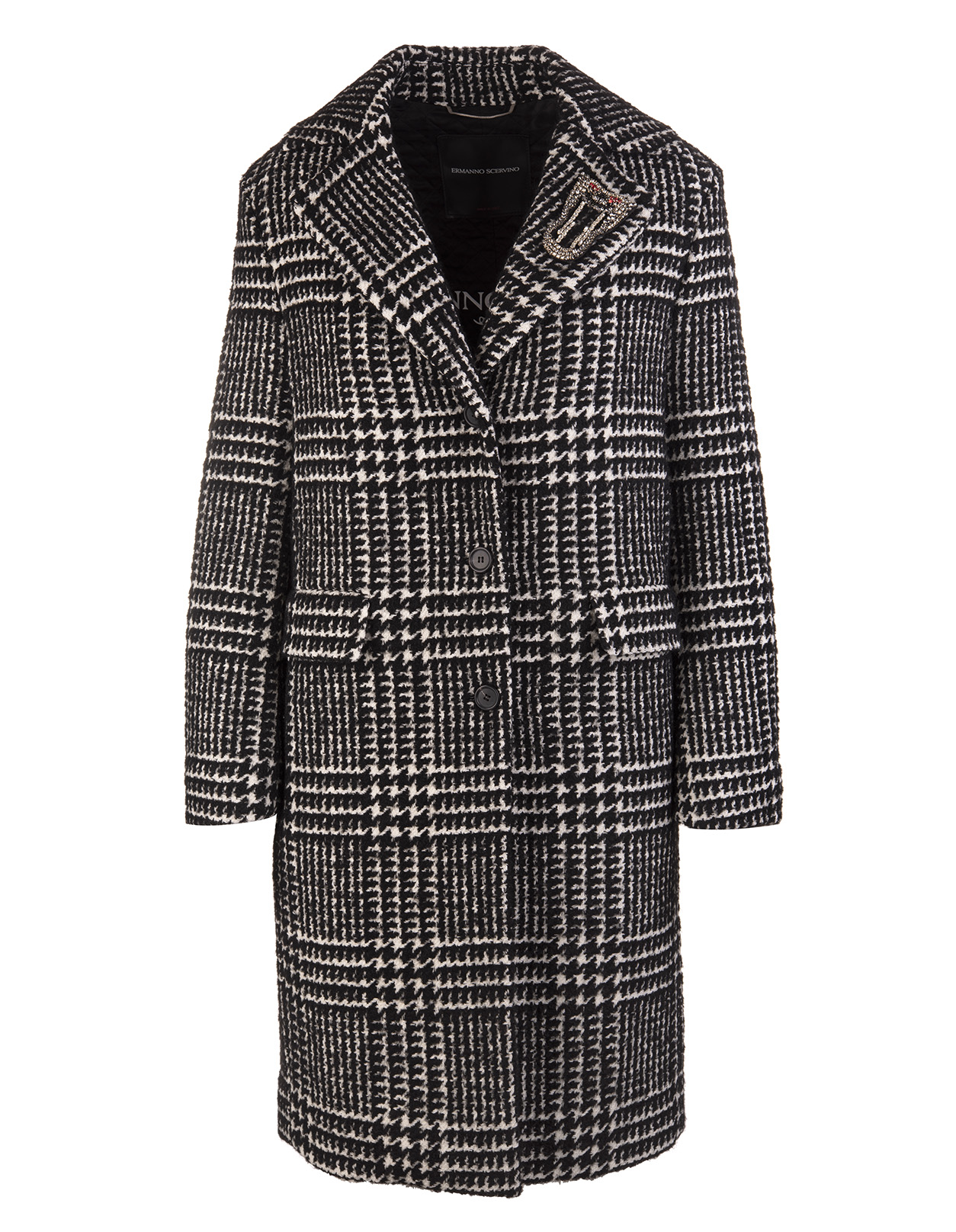 low priced 1e5a5 dd21a Grey Prince of Wales Wool Coat