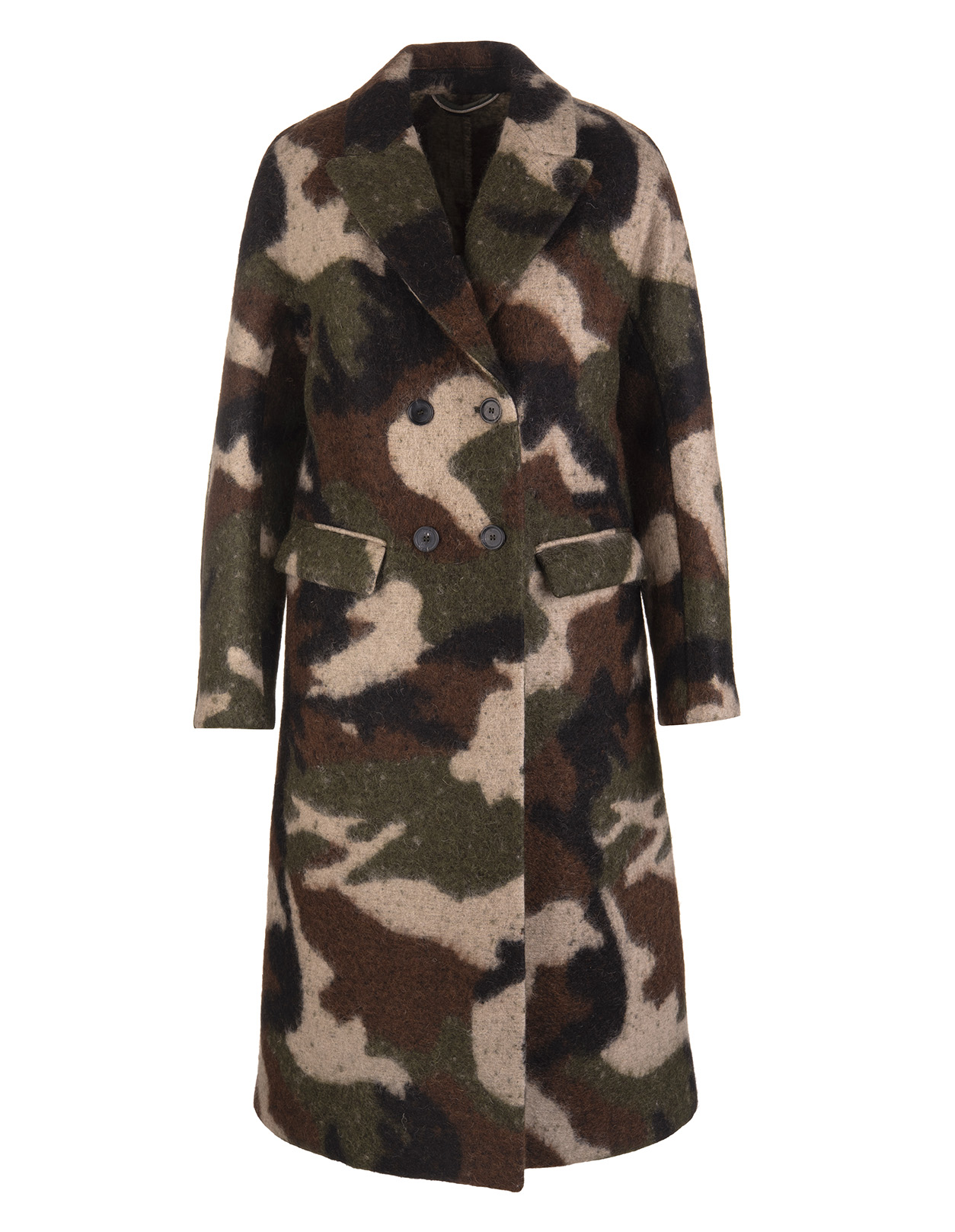newest ef095 9252c Coat In Mohair Camouflage