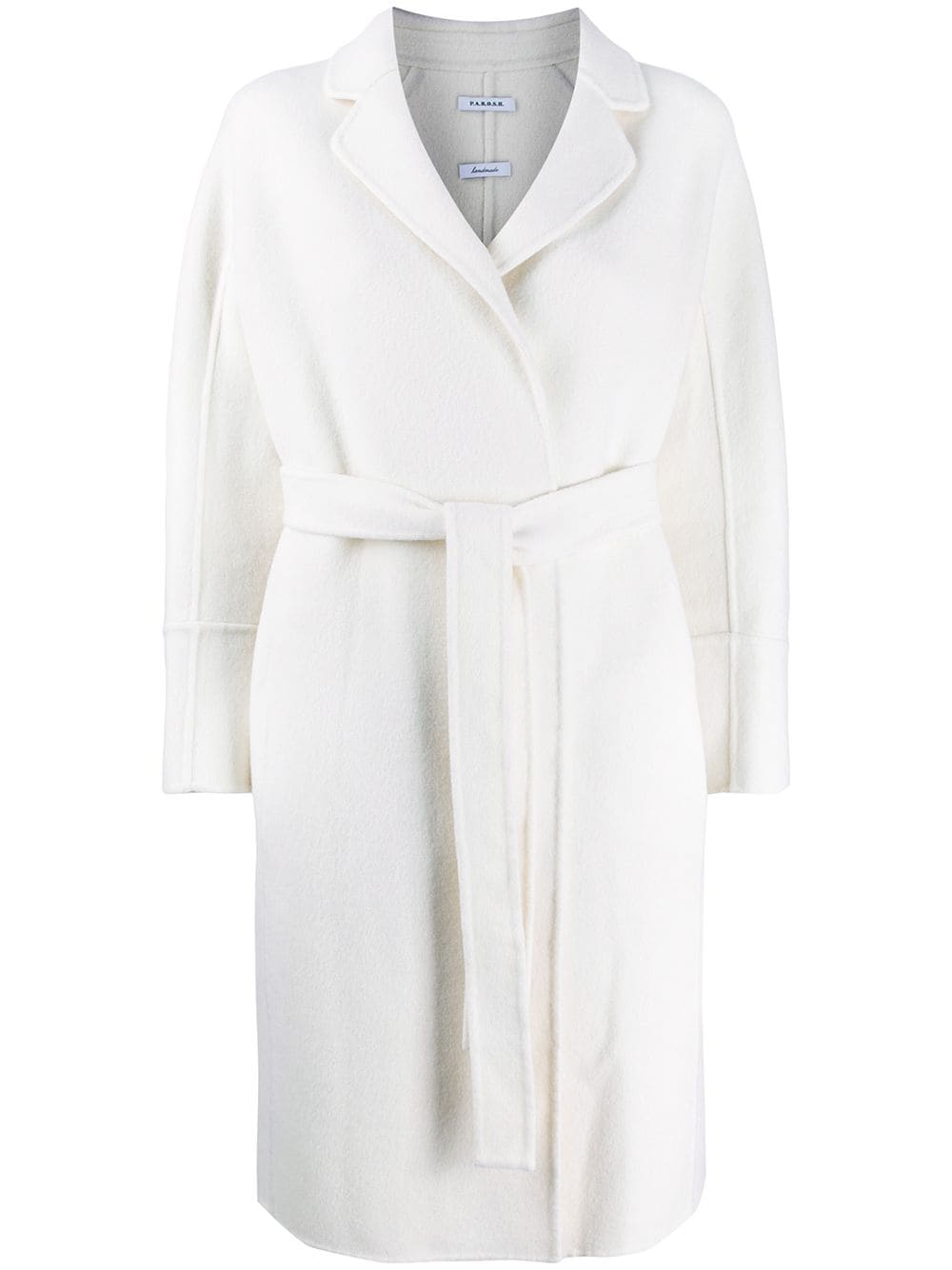 quality design 39f75 f979a White Wool Coat With Belt