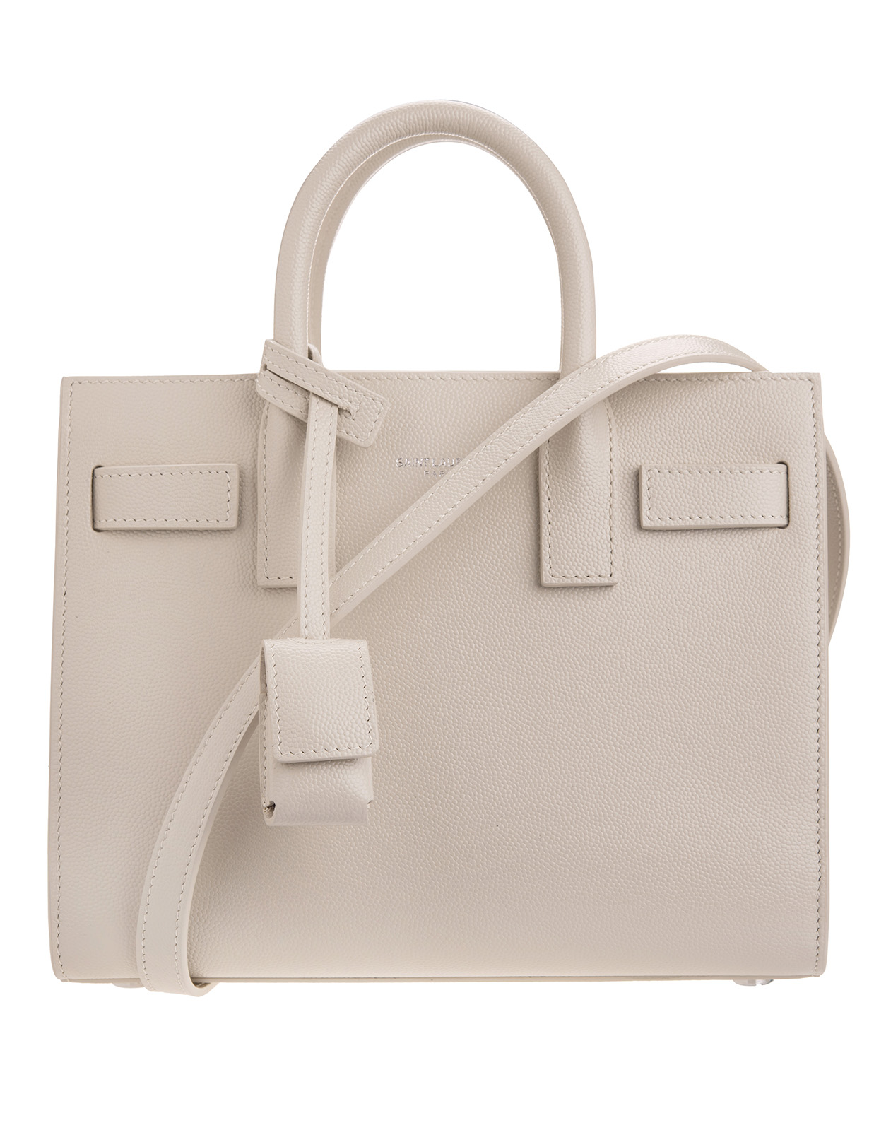 0e6684989e2 Classic Sac De Jour Baby Bag In Grain De Poudre Embossed Cream Leather - SAINT  LAURENT - Russocapri