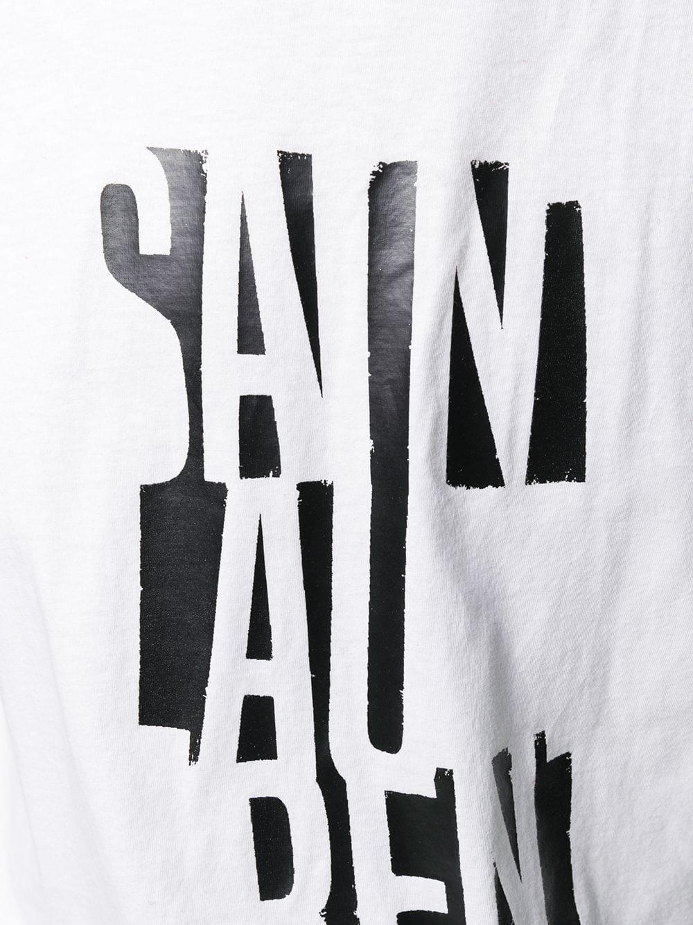 87191fed2c7 T-Shirt Bianca Poster Saint Laurent - SAINT LAURENT - Russocapri