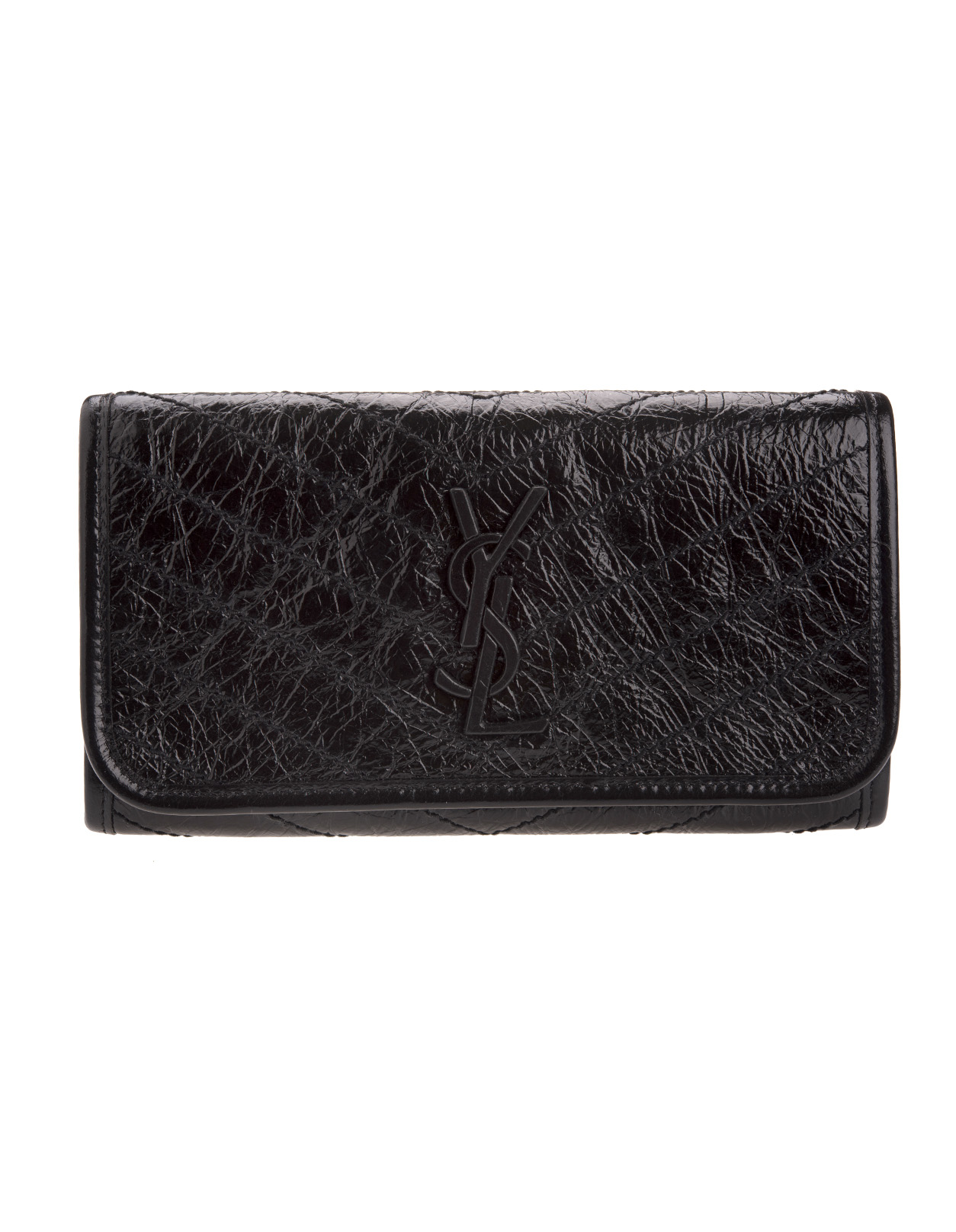 dbad23612e Niki Large Wallet In Black Vintage Leather