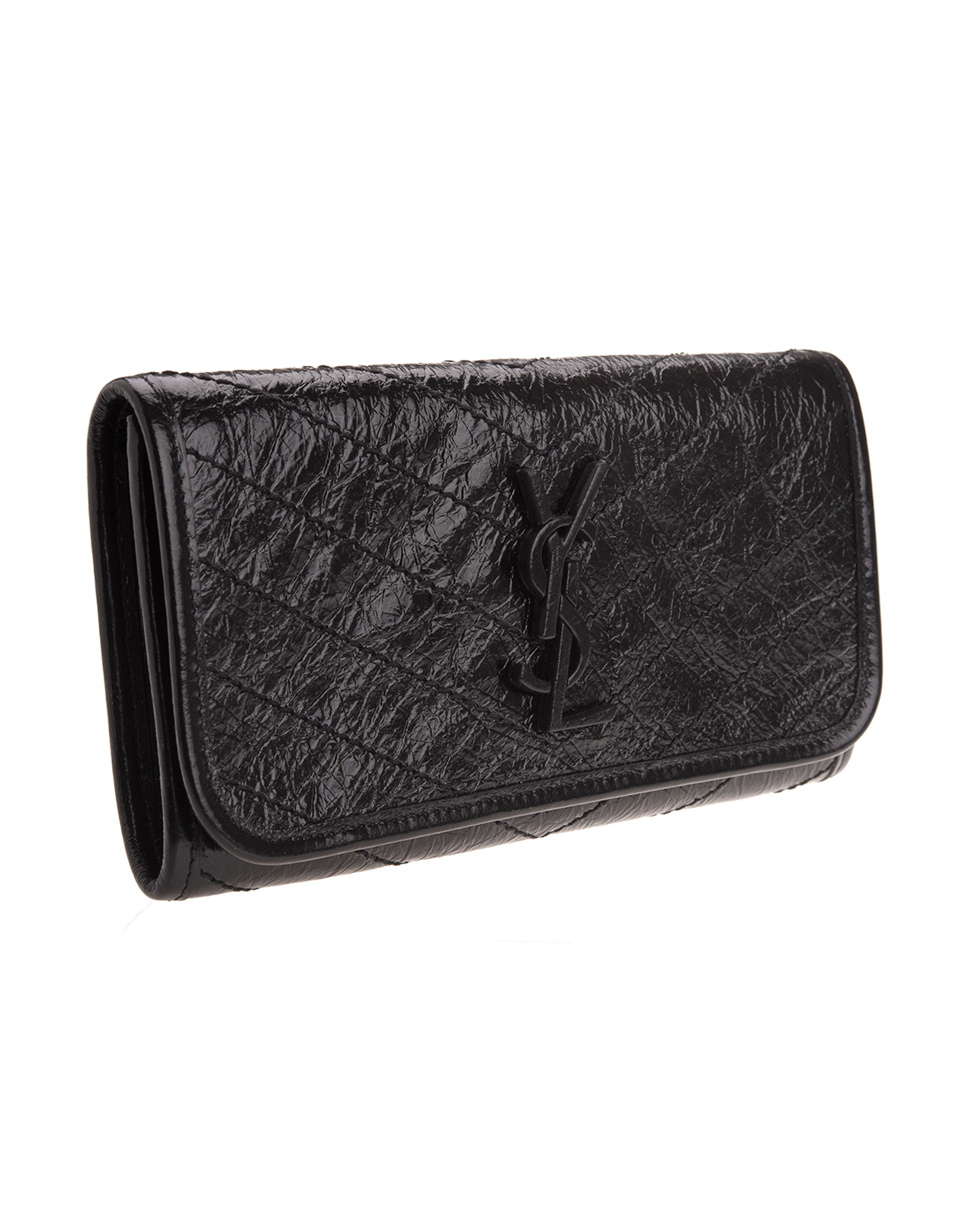 7ad26715bf Niki Large Wallet In Black Vintage Leather