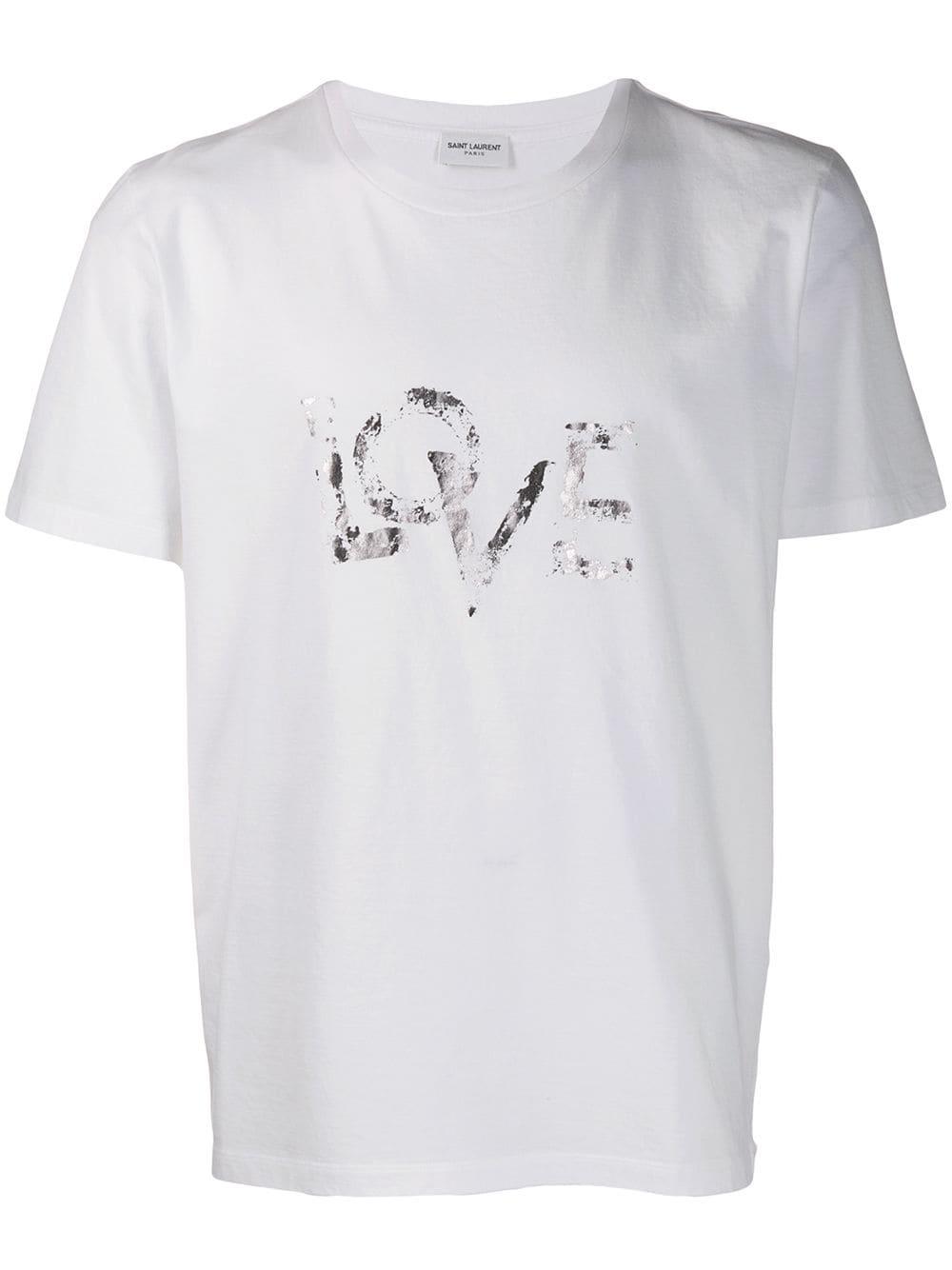 aa3752be3b1 T-Shirt LOVE Bianca - SAINT LAURENT - Russocapri