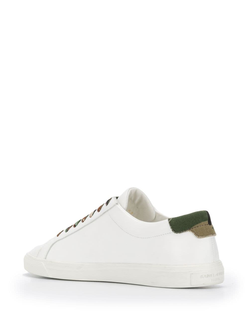 2911e99b Andy Sneakers In White Leather And Camouflage Canvas