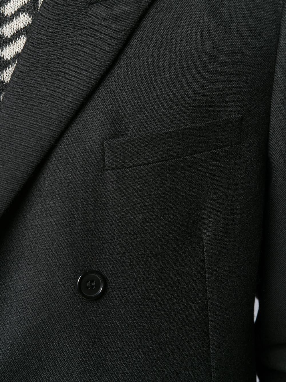 3eeac9d39f5 Black Wool Double-Breasted Jacket - SAINT LAURENT - Russocapri