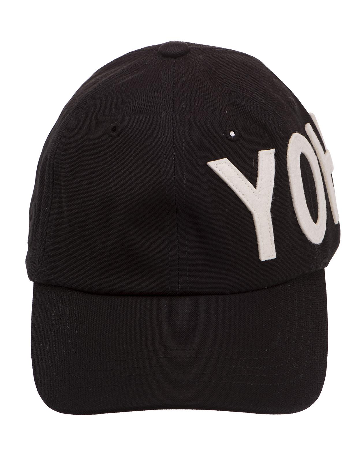 9a25deab Black Baseball Hat With White YOHJI Signature - ADIDAS - Russocapri