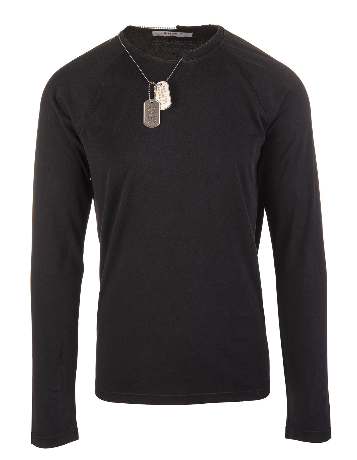 8356a1bade4 Black Long Sleeve T-Shirt With Chain and Atelier GIVENCHY Stamp On The Back  - GIVENCHY - Russocapri
