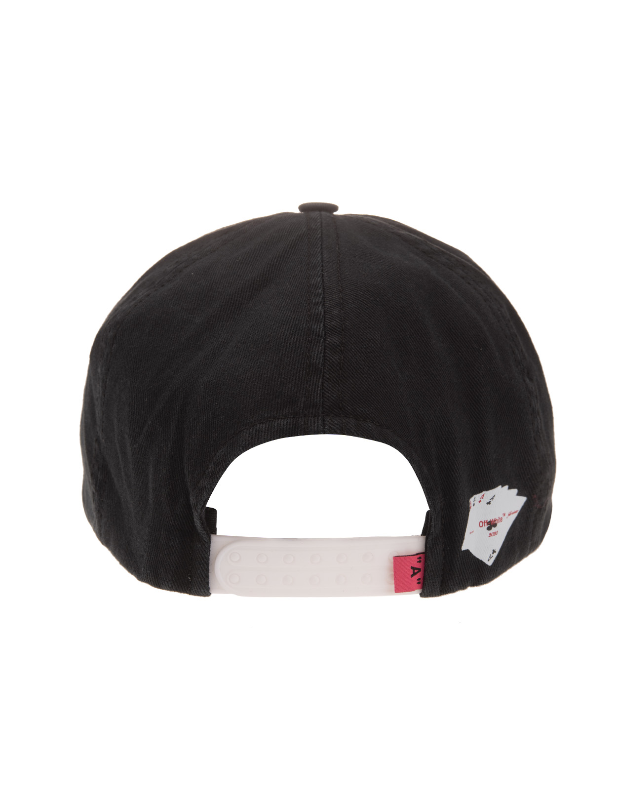 69c863aa Black Baseball Cap With Print And White Logo - OFF-WHITE - Russocapri