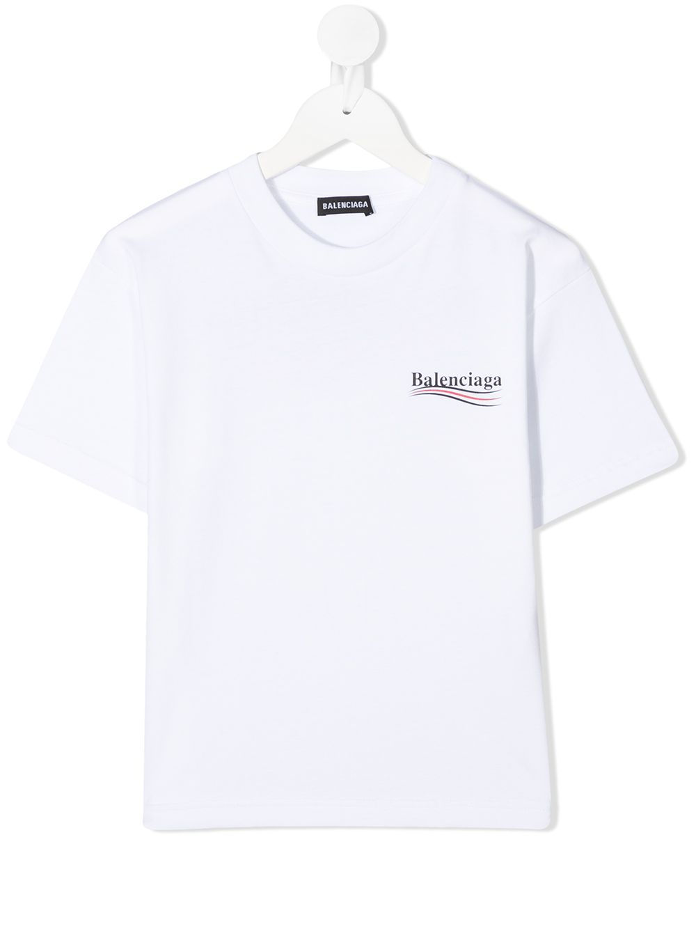 Unisex Kid White T-Shirt With Political