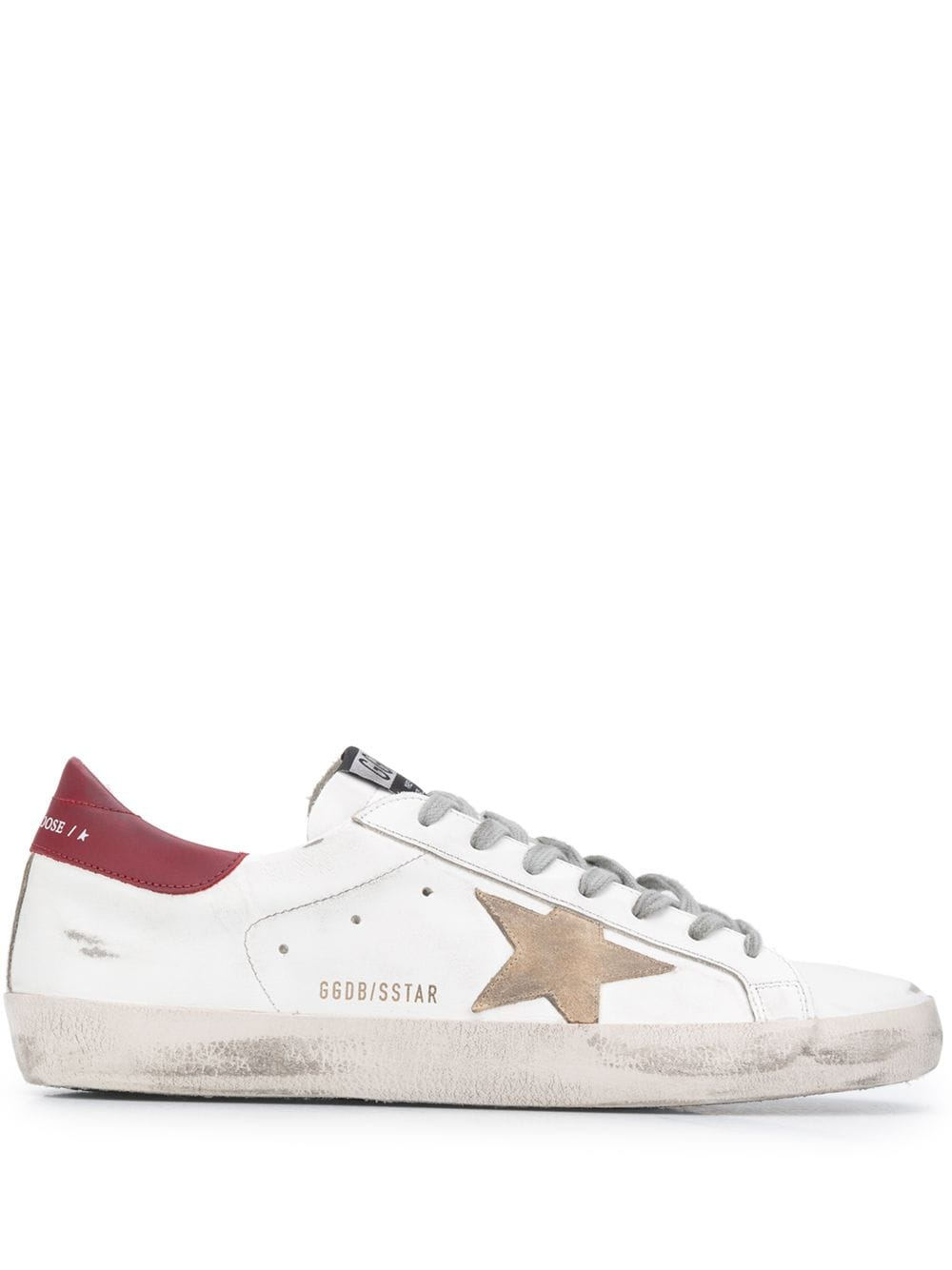 White and Red Super Star Man Sneakers