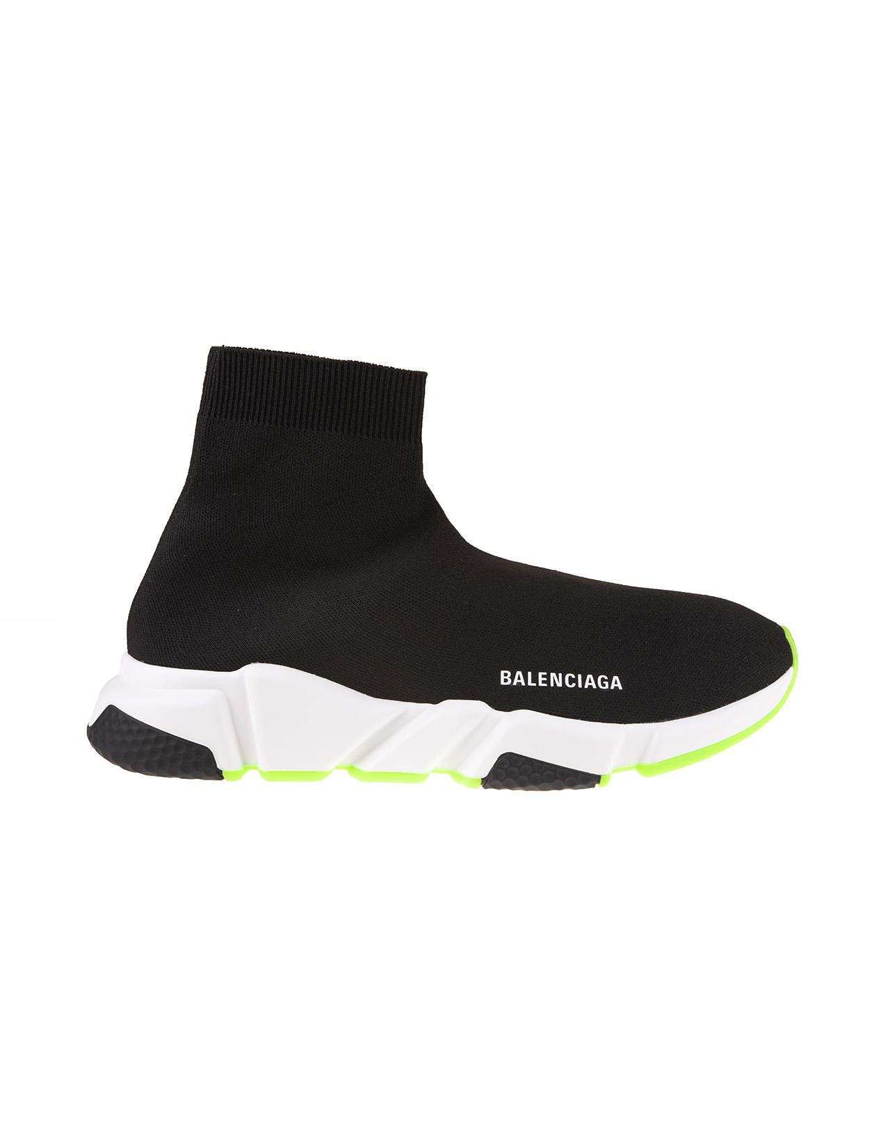 Black/White/Fluo Green Man Speed