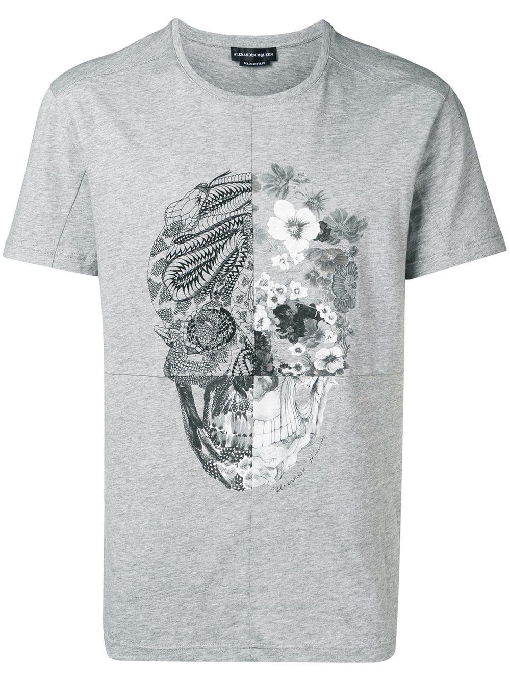 bc7364121 T-Shirt with patchwork Skull - ALEXANDER MCQUEEN - Russocapri