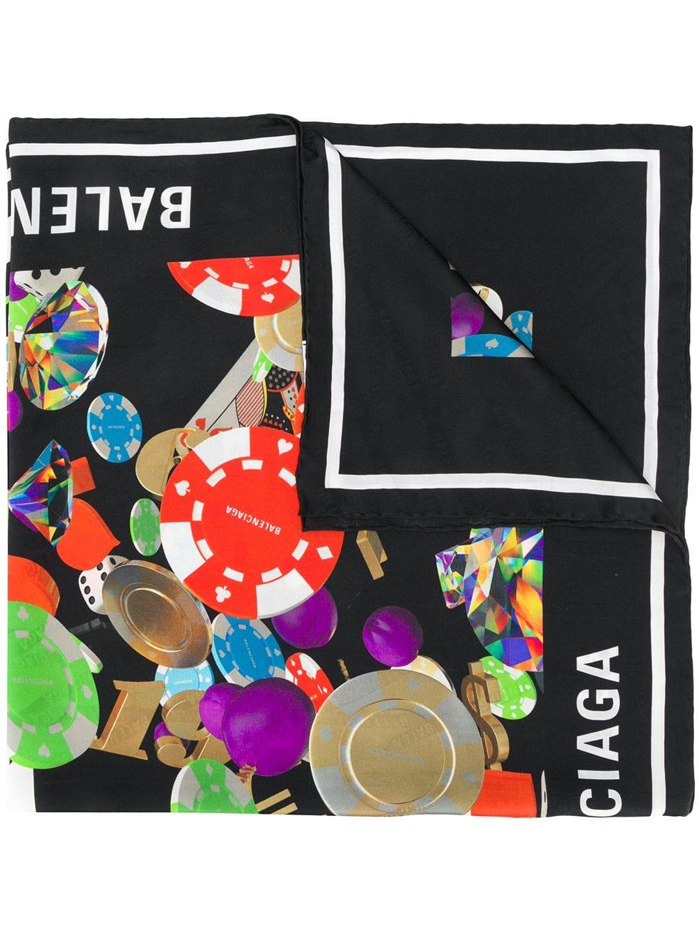 8f5d0f5628 Foulard In Seta Con Stampa Multicolor