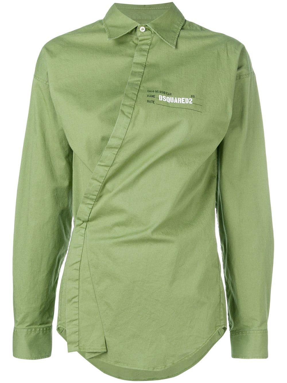 pretty nice 9a6a7 f02ec Camicia verde Asimmetrica