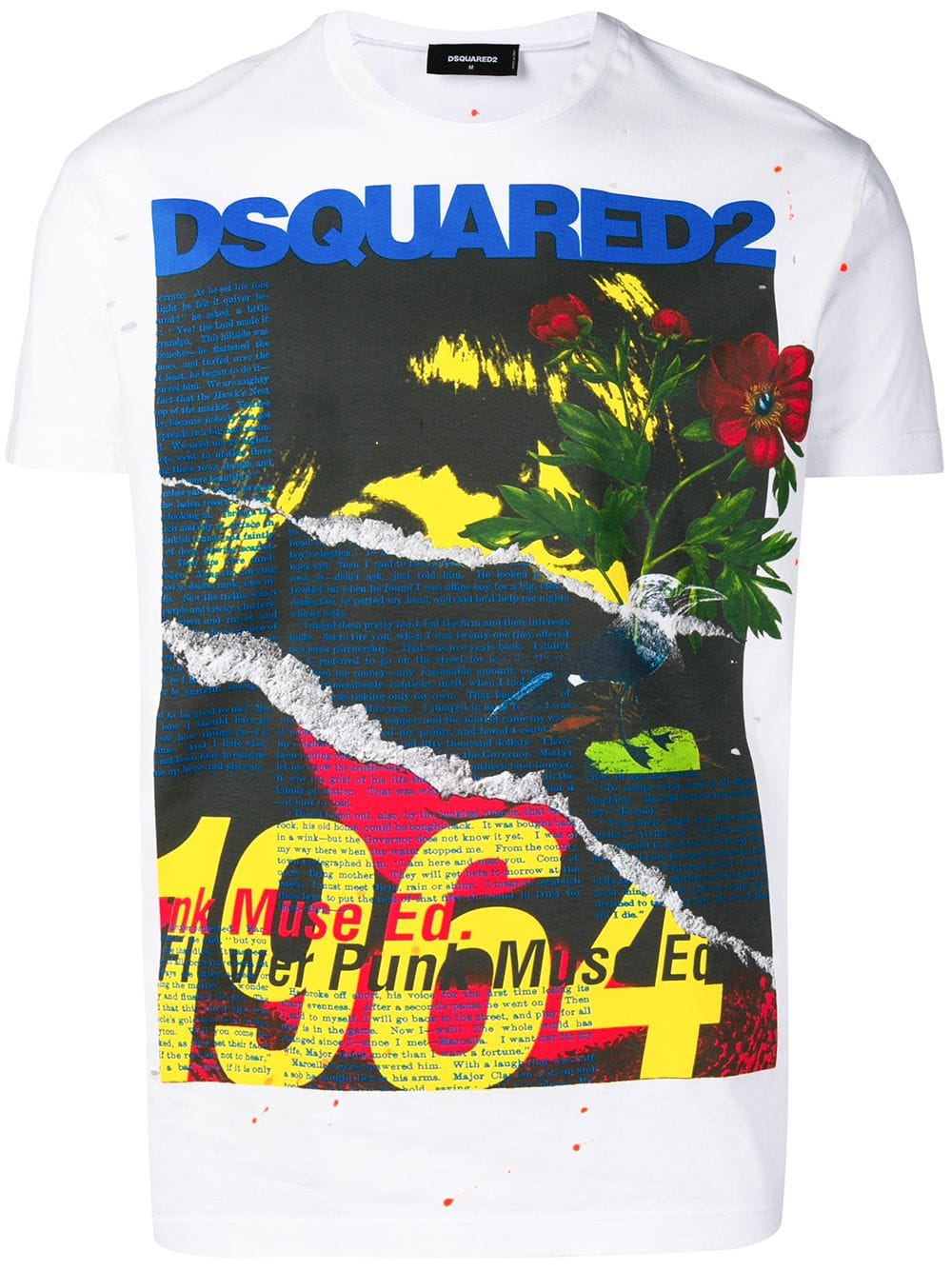 bcd23b76016 Maxi Print Fantasy White T-Shirt - DSQUARED2 - Russocapri