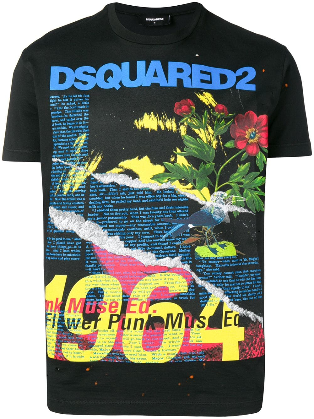 d484bcf9 Maxi Print Fantasy Black T-Shirt - DSQUARED2 - Russocapri