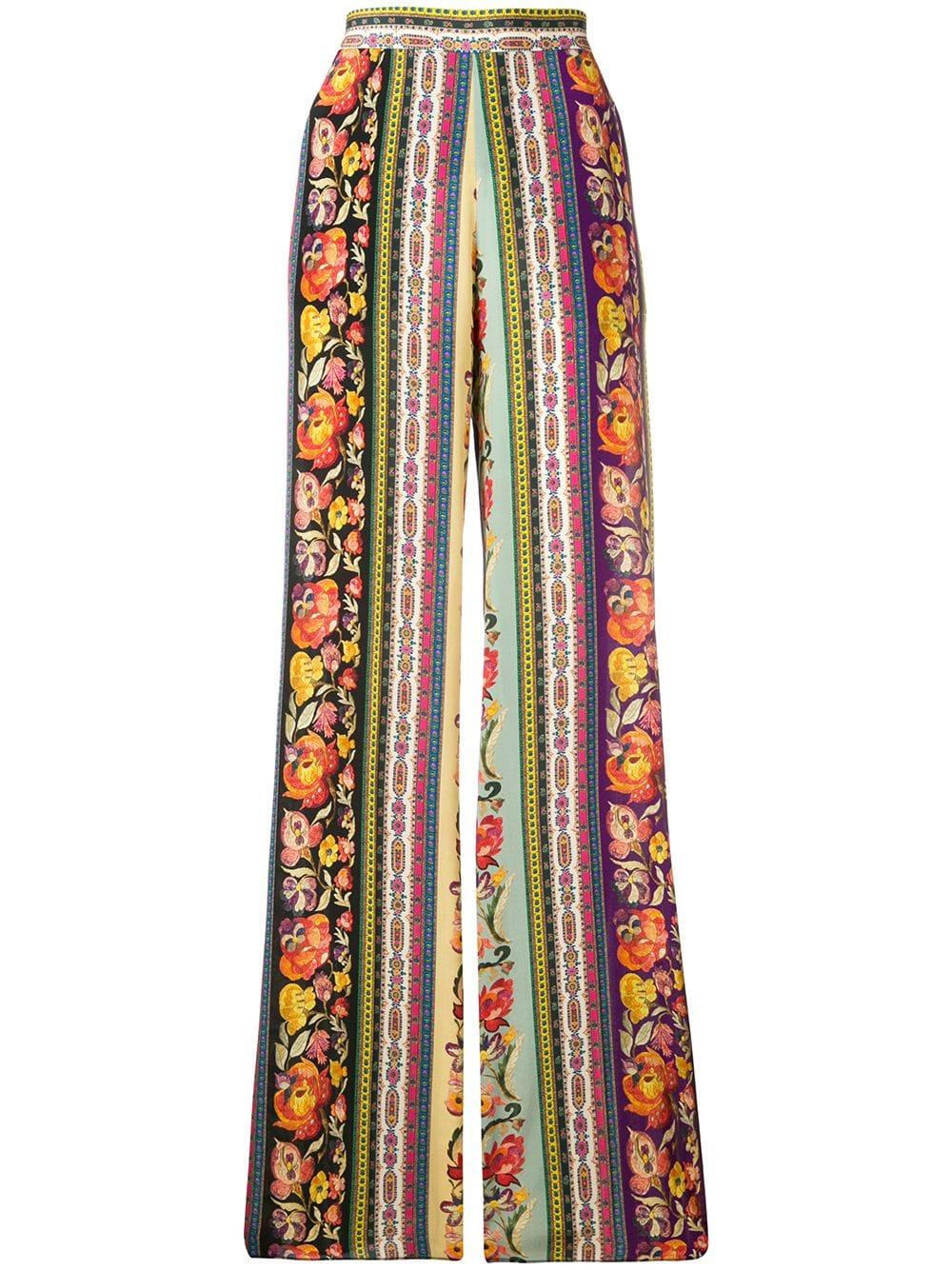 miglior servizio 5449b 4d6de Pantaloni Floreali In Seta