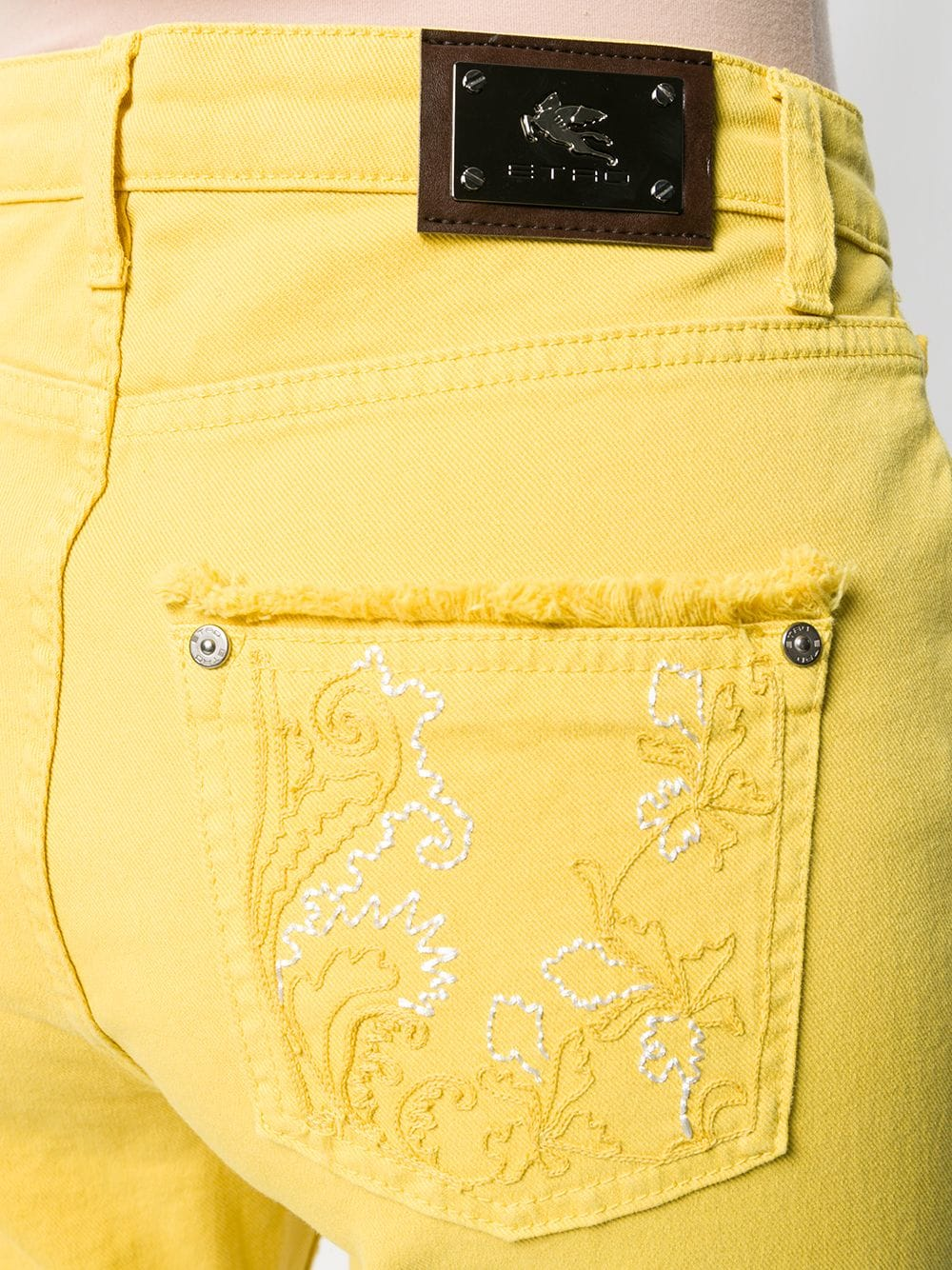 452e7942 Frayed Edges Yellow Jeans - ETRO - Russocapri
