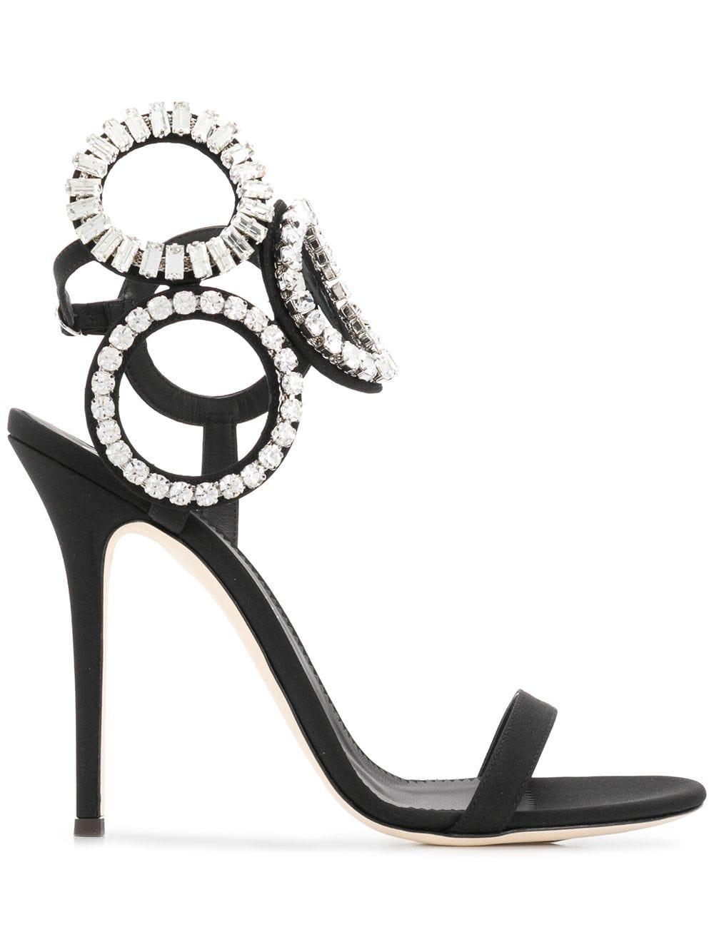 d94bc6928 Kassie Crystal Black Sandal - GIUSEPPE ZANOTTI - Russocapri