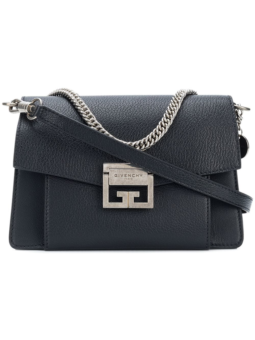 133b93d61 Small GV3 Bag In Black Leather - GIVENCHY - Russocapri