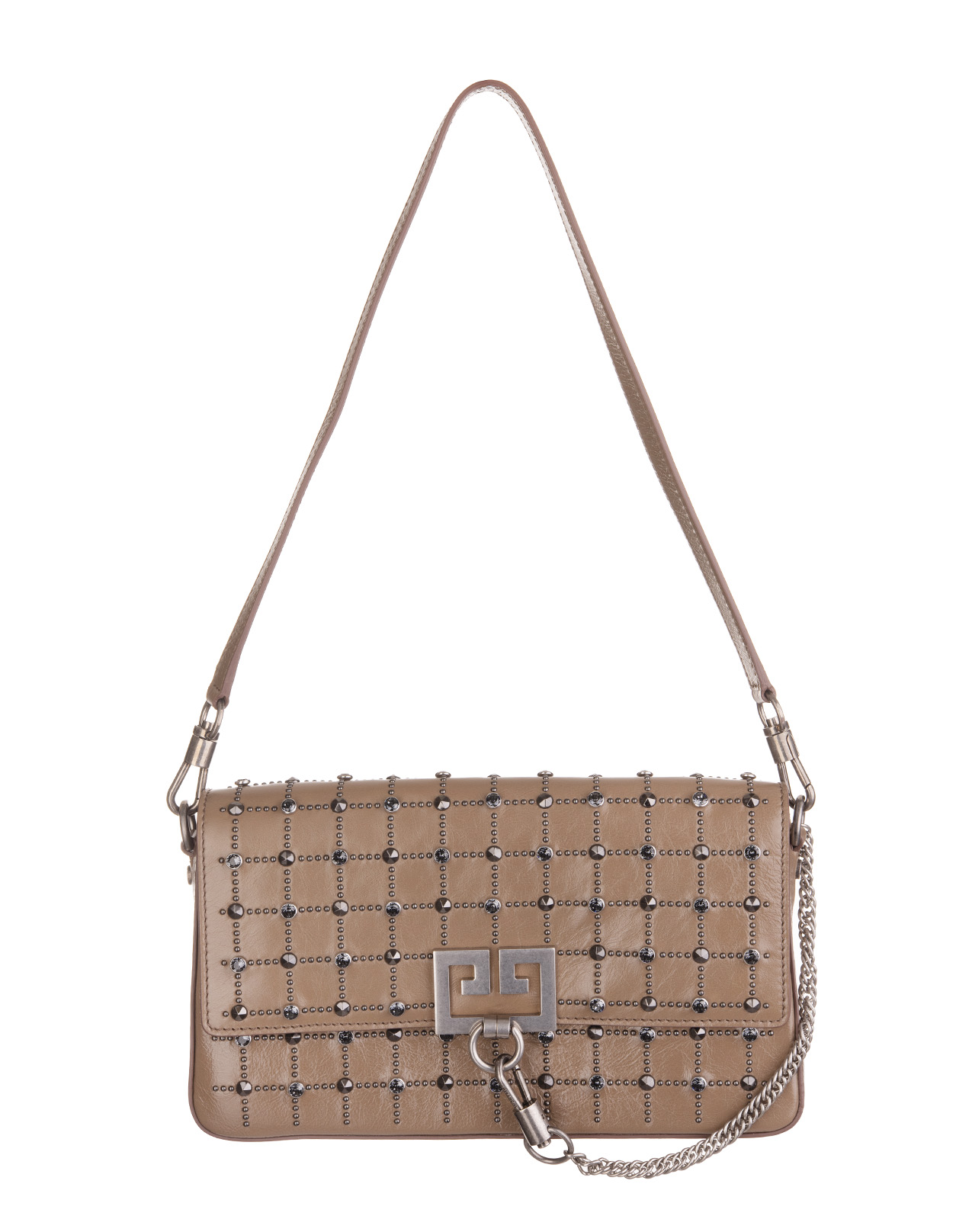 fc28c0576 Taupe Charm Bag In Taupe Leather With Studs - GIVENCHY - Russocapri