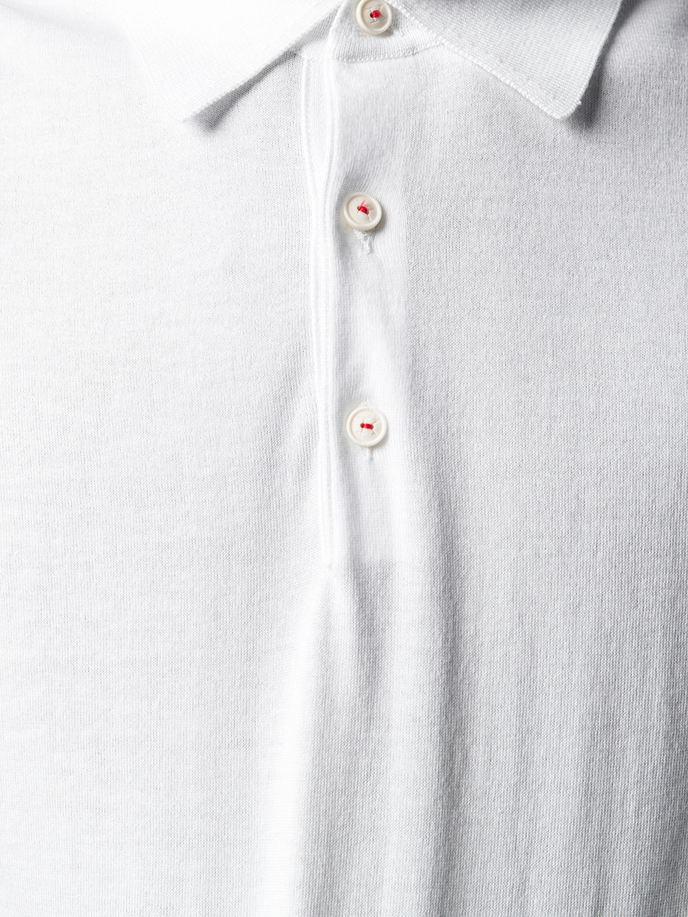 70b37d982 White Cotton Polo Shirt - KITON - Russocapri